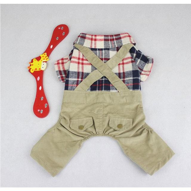 Jumpsuit For Small Dog Puppy - DarkKhaki / S - Jumpsuit For Dog