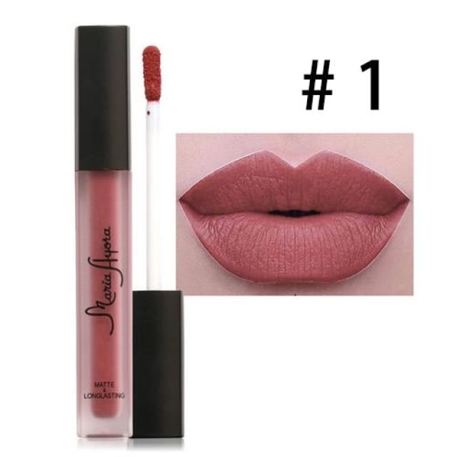 Liquid Lipstick Hot Sexy Colors - Waterproof Long Lasting - 01 - Lip Gloss