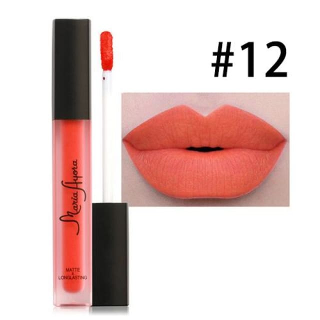 Liquid Lipstick Hot Sexy Colors - Waterproof Long Lasting - 012 - Lip Gloss