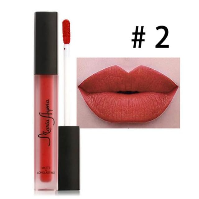 Liquid Lipstick Hot Sexy Colors - Waterproof Long Lasting - 02 - Lip Gloss