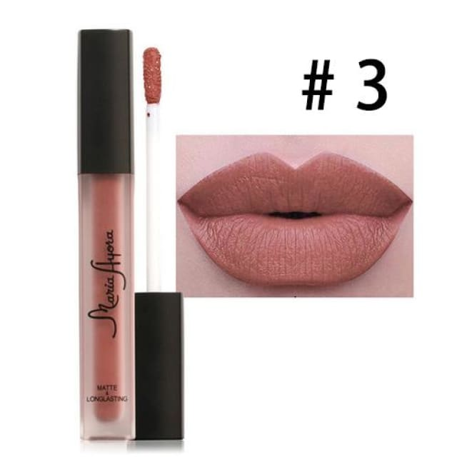 Liquid Lipstick Hot Sexy Colors - Waterproof Long Lasting - 03 - Lip Gloss
