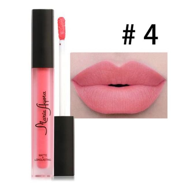 Liquid Lipstick Hot Sexy Colors - Waterproof Long Lasting - 04 - Lip Gloss