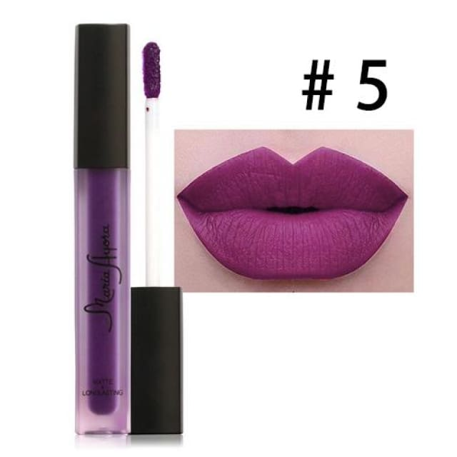 Liquid Lipstick Hot Sexy Colors - Waterproof Long Lasting - 05 - Lip Gloss