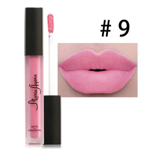 Liquid Lipstick Hot Sexy Colors - Waterproof Long Lasting - 09 - Lip Gloss