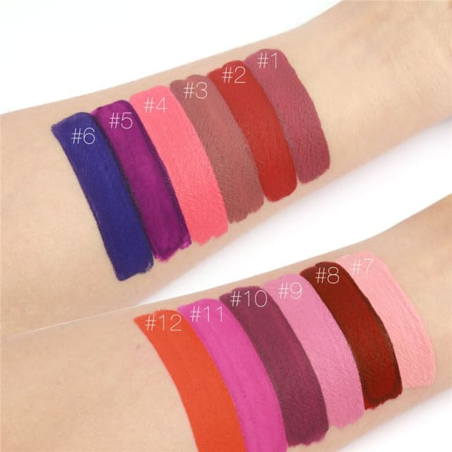 Liquid Lipstick Hot Sexy Colors - Waterproof Long Lasting - Lip Gloss