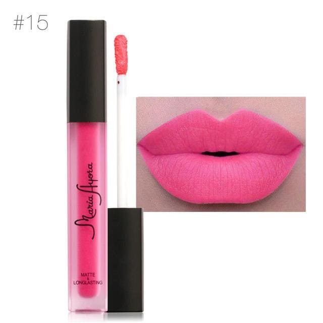 Liquid Lipstick Hot Sexy Colors - Waterproof Long Lasting - 15 - Lip Gloss
