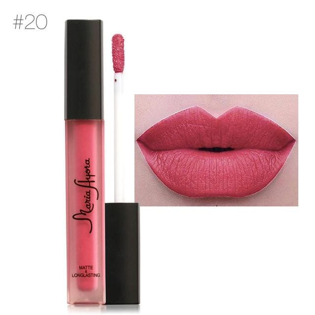 Liquid Lipstick Hot Sexy Colors - Waterproof Long Lasting - 20 - Lip Gloss