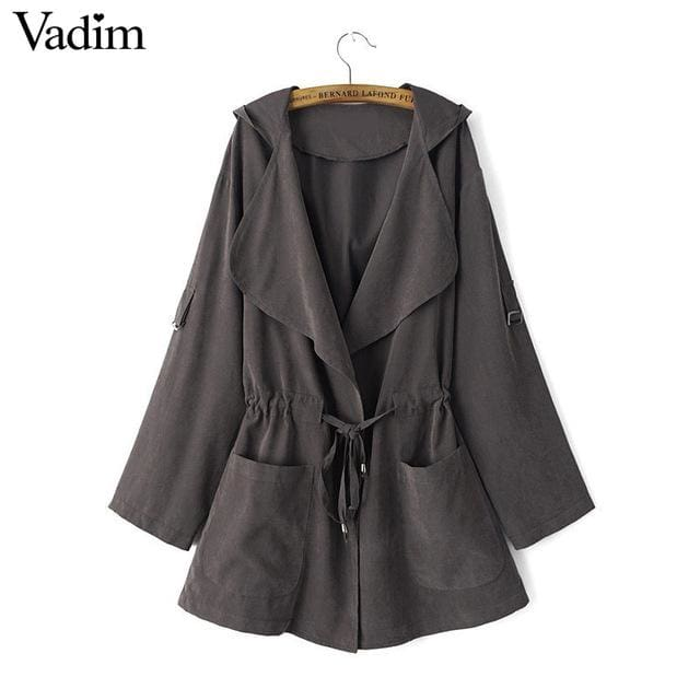 Long trench coats for women - as picture / L / China - Trench