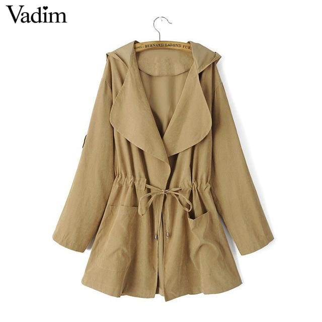 Long trench coats for women - Khaki / L / China - Trench