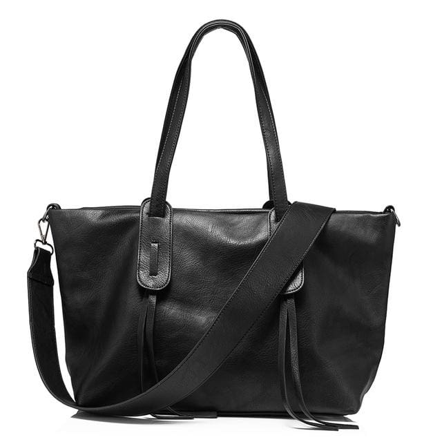 Luxury big handbag For womens large capacity 2018 - Black / China / (30cm<Max Length<50cm) - Shoulder & Handbags