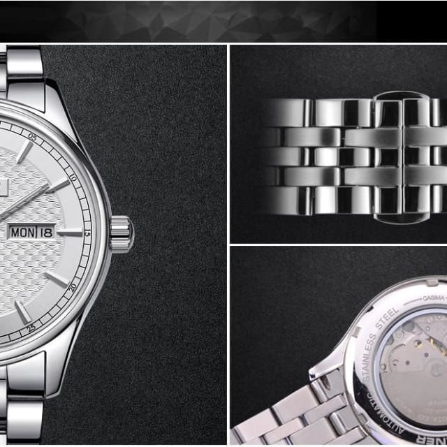 Luxury brand automatic mechanical watches for mens business dress casual mens wrist watch waterproof 2018