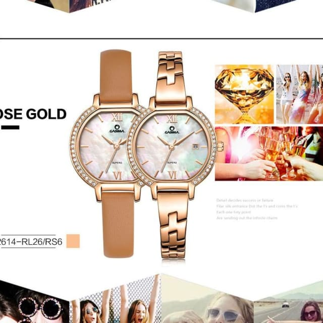 Luxury brand Bracelet watches women 2018 Fashion casual ladies quartz wrist watch womens waterproof - Fashion