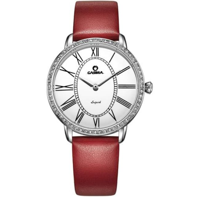 Luxury brand Bracelet watches women Fashion 2018 casual ladies quartz wrist watch womens waterproof - Red - Fashion