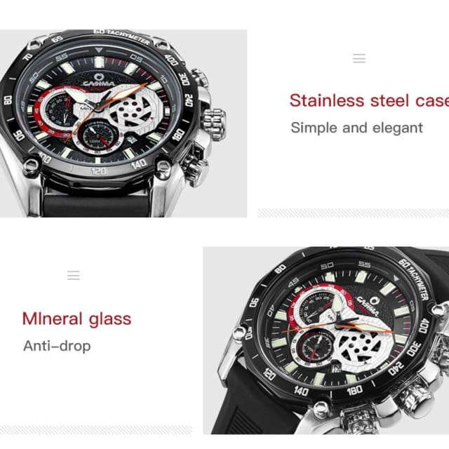 Luxury brand sports watches men quartz wrist watch Fashion luminous waterproof 100m - Sport