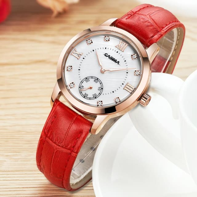 Luxury brand watches women 2018 fashion leisure female waterproof womens quartz watch leather for women - Fashion & Business