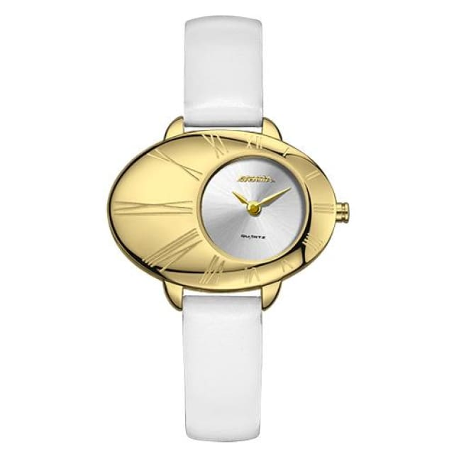 Luxury brand watches women fashion grace womens quartz wrist watch ladies Leather waterproof - White - Fashion