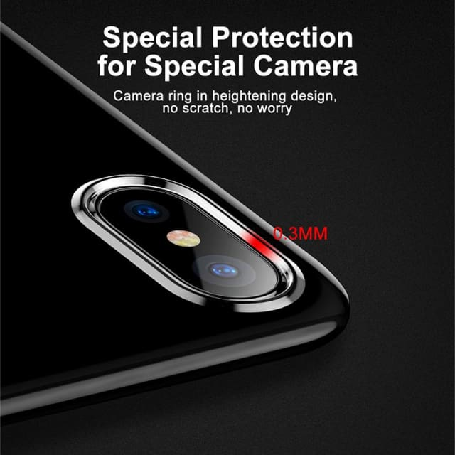 Luxury Cover Case For iPhone X 10 Slim Transparent Blue/Black/Red - Fitted Cases