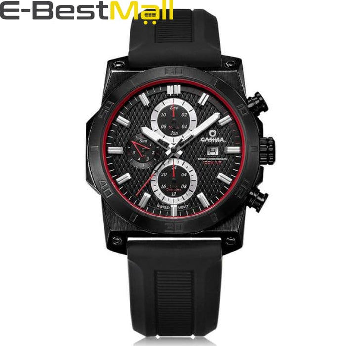 Luxury Sport watch For mens quartz and waterproof 100m - Black - Quartz & Sport