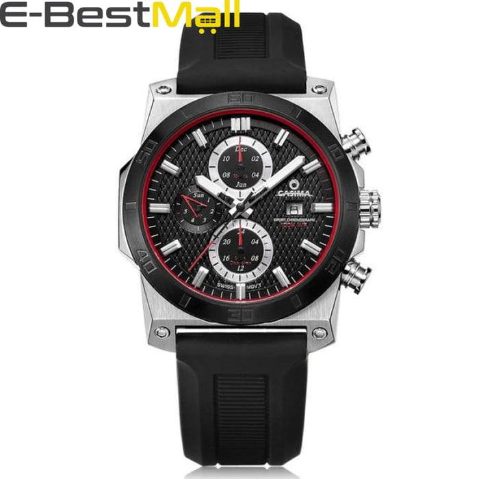 Luxury Sport watch For mens quartz and waterproof 100m - Gray - Quartz & Sport