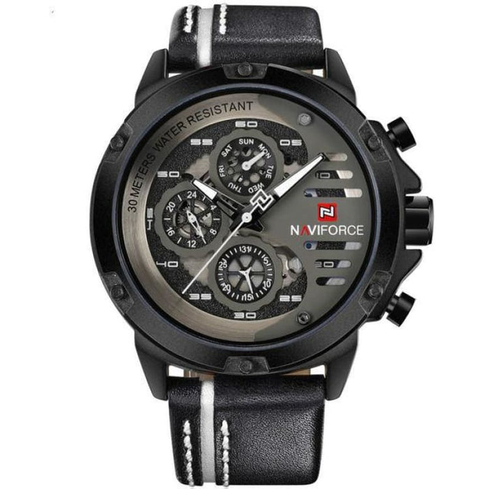 Luxury Watch Quartz For Men - Black White - Sport Watch