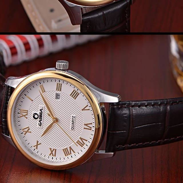 Luxury watches For men business classic mens quartz wrist watch waterproof leather - Quartz