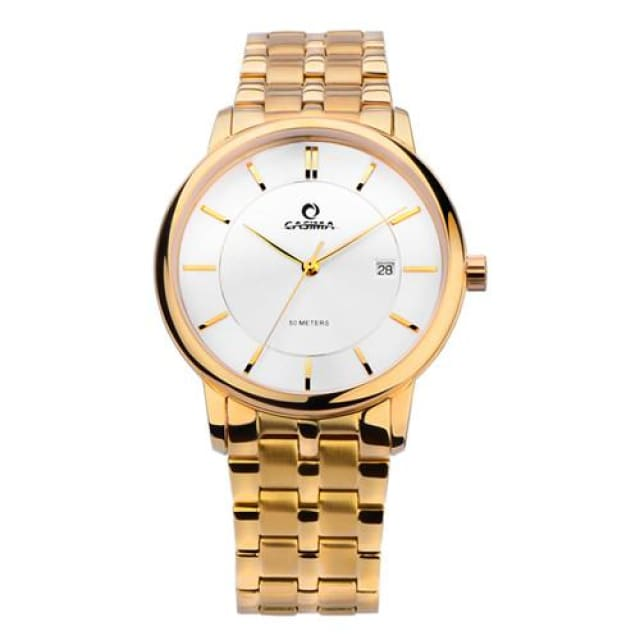 Luxury watches for men fashion dress mens quartz wrist watch waterproof - Gold - Luxury watche