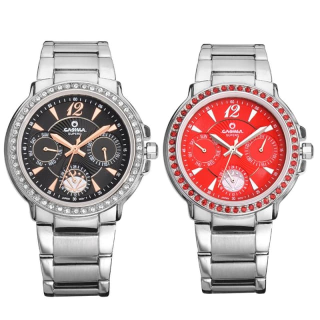 Luxury Watches for Women Diamond Quartz-Watch Fashion Casual Ladies Wristwatch waterproof 50m - Luxury watche