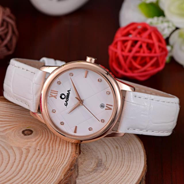 Luxury watches women fashion simple Crystal casual charm womens 2018 quartz wrist watch leather waterproof 50m - Fashion & Business