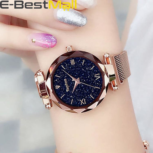 Luxury Women Watches Magnetic Starry Sky Female Clock Quartz Wristwatch Fashion Ladies Wrist Watch reloj mujer relogio feminino - watch