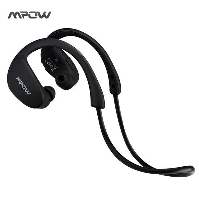 MBH6 Cheetah 4.1 Bluetooth Headphones with Microphone AptX Sport for iPhone Android Phone - Black / China