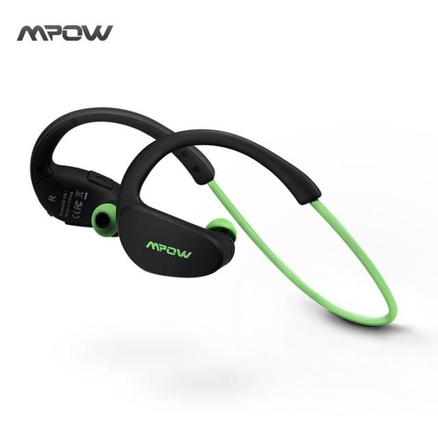 MBH6 Cheetah 4.1 Bluetooth Headphones with Microphone AptX Sport for iPhone Android Phone - Green / China