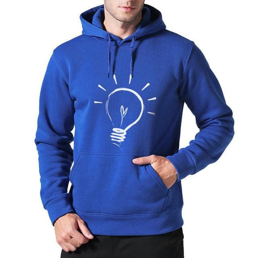 Men Hoodies sweatshirt 2018 - Blue / M - Hoodie & Sweatshirt