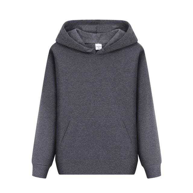 Men Hoodies sweatshirt 2018 - Dark Gray / L - Hoodie & Sweatshirt