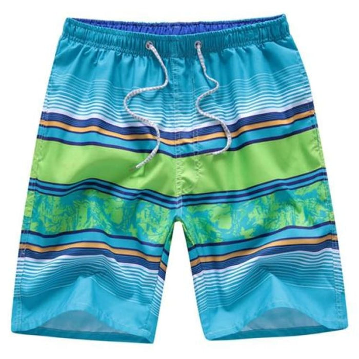 Men Summer Shorts - Chart / L - Beach Shorts