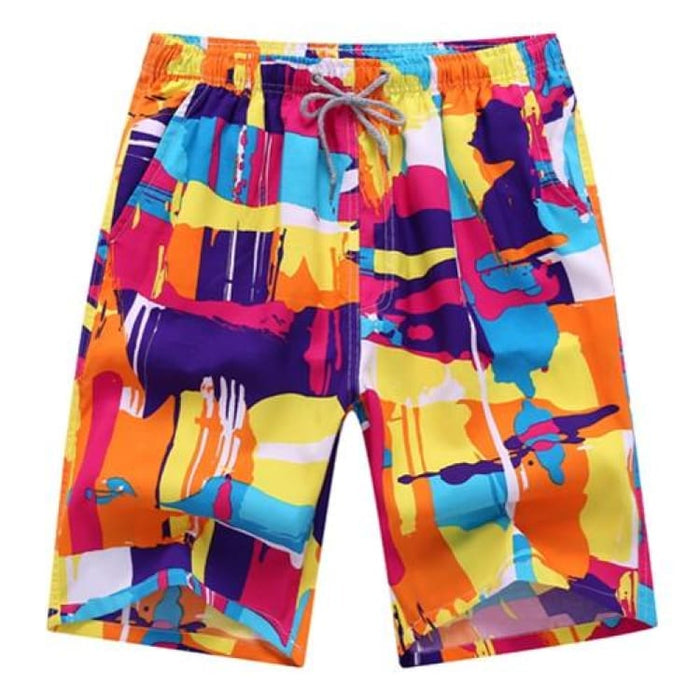 Men Summer Shorts - Chart4 / L - Beach Shorts