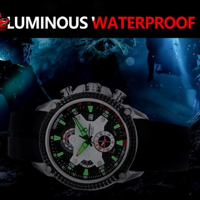 Men watches Sport 2018 Fashion Luxury Elegance quartz watch silicone strap Multi-function luminous waterproof 100m - Sport