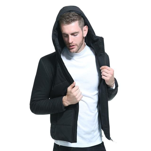 Men Winter Short Jacket - Black / M - Parkas
