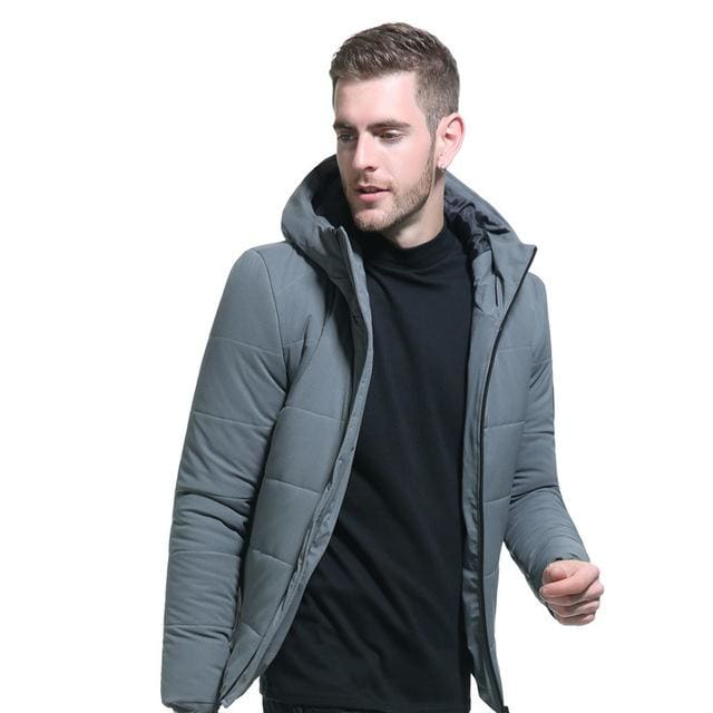 Men Winter Short Jacket - Gray / M - Parkas
