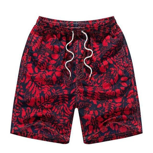 Mens Beach Shorts - Red / M - Short