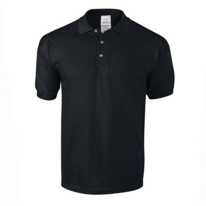 Mens Business Cotton Polo - Black / M - Polo