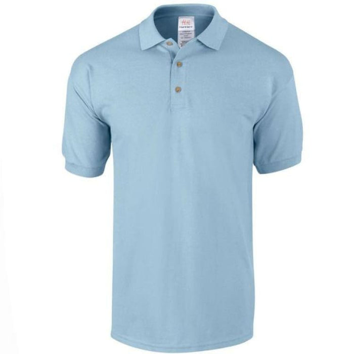 Mens Business Cotton Polo - Light Blue / M - Polo