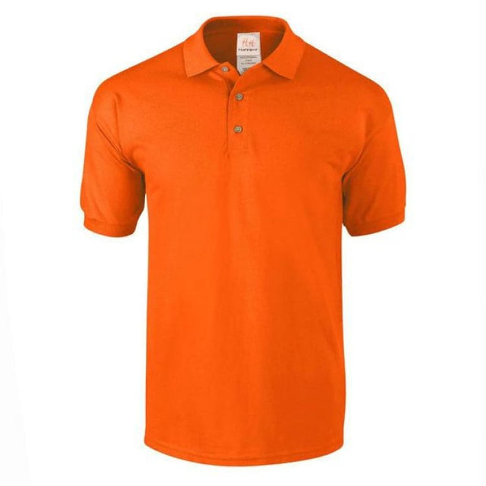 Mens Business Cotton Polo - Orange / M - Polo