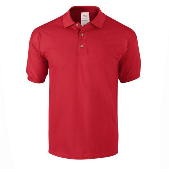 Mens Business Cotton Polo - Red / M - Polo