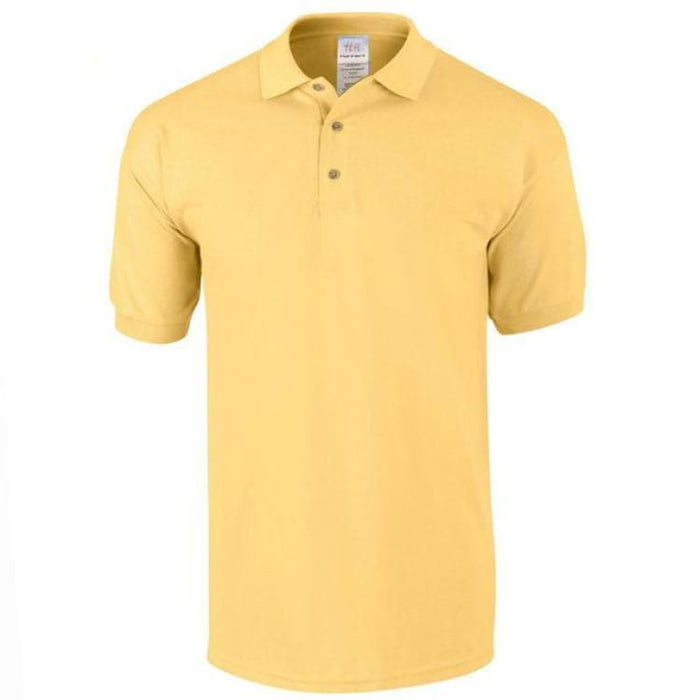 Mens Business Cotton Polo - Yellow / M - Polo