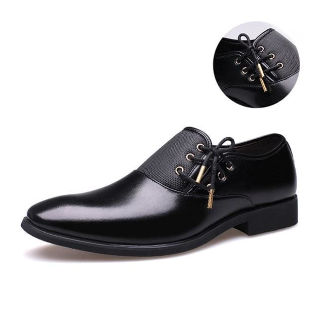 Mens Business Shoes - black gold / 38 - Oxford Shoes
