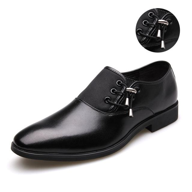 Mens Business Shoes - black silver / 38 - Oxford Shoes