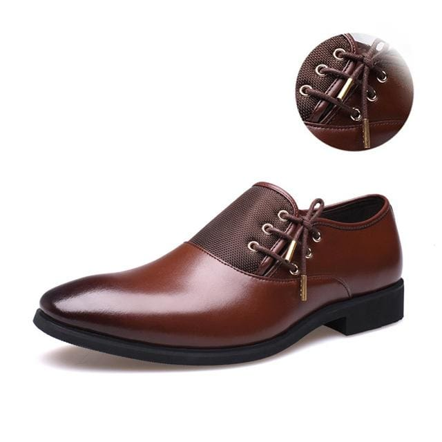Mens Business Shoes - brown gold / 38 - Oxford Shoes