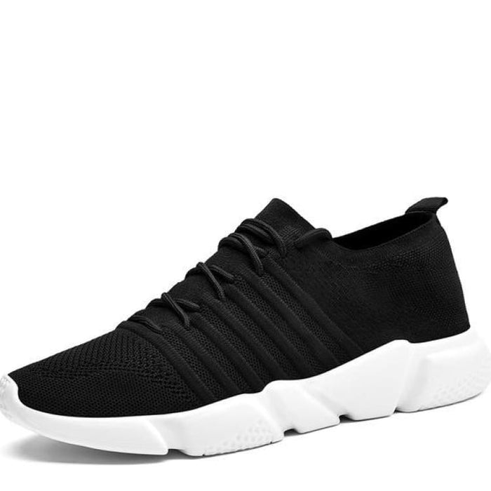 Mens Comfort Sneakers Lightweight Mesh - S1756 Black / 7 - Mens Casual Shoes