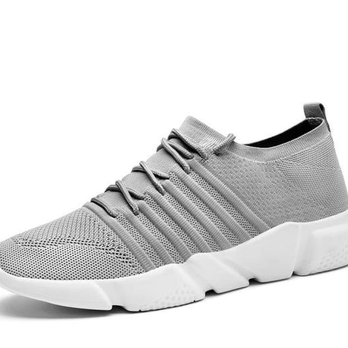 Mens Comfort Sneakers Lightweight Mesh - S1756 Grey / 7 - Mens Casual Shoes