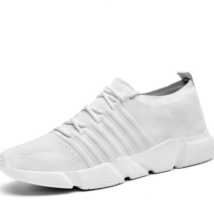 Mens Comfort Sneakers Lightweight Mesh - S1756 White / 7 - Mens Casual Shoes